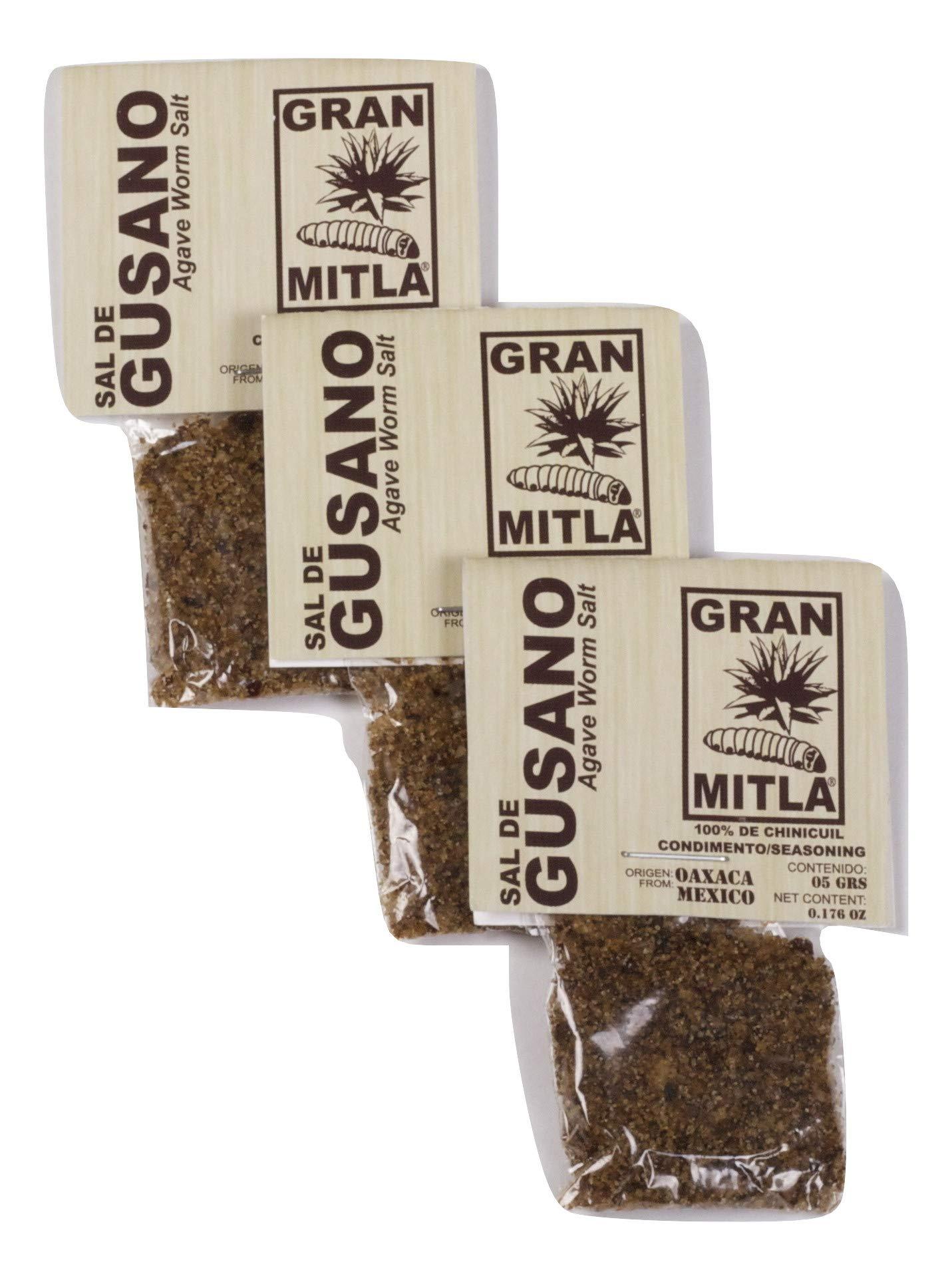 Gran Mitla Sal de Gusano Worm Salt Pack with 50 bags of 5 g each (0.18 oz per bag) (50)