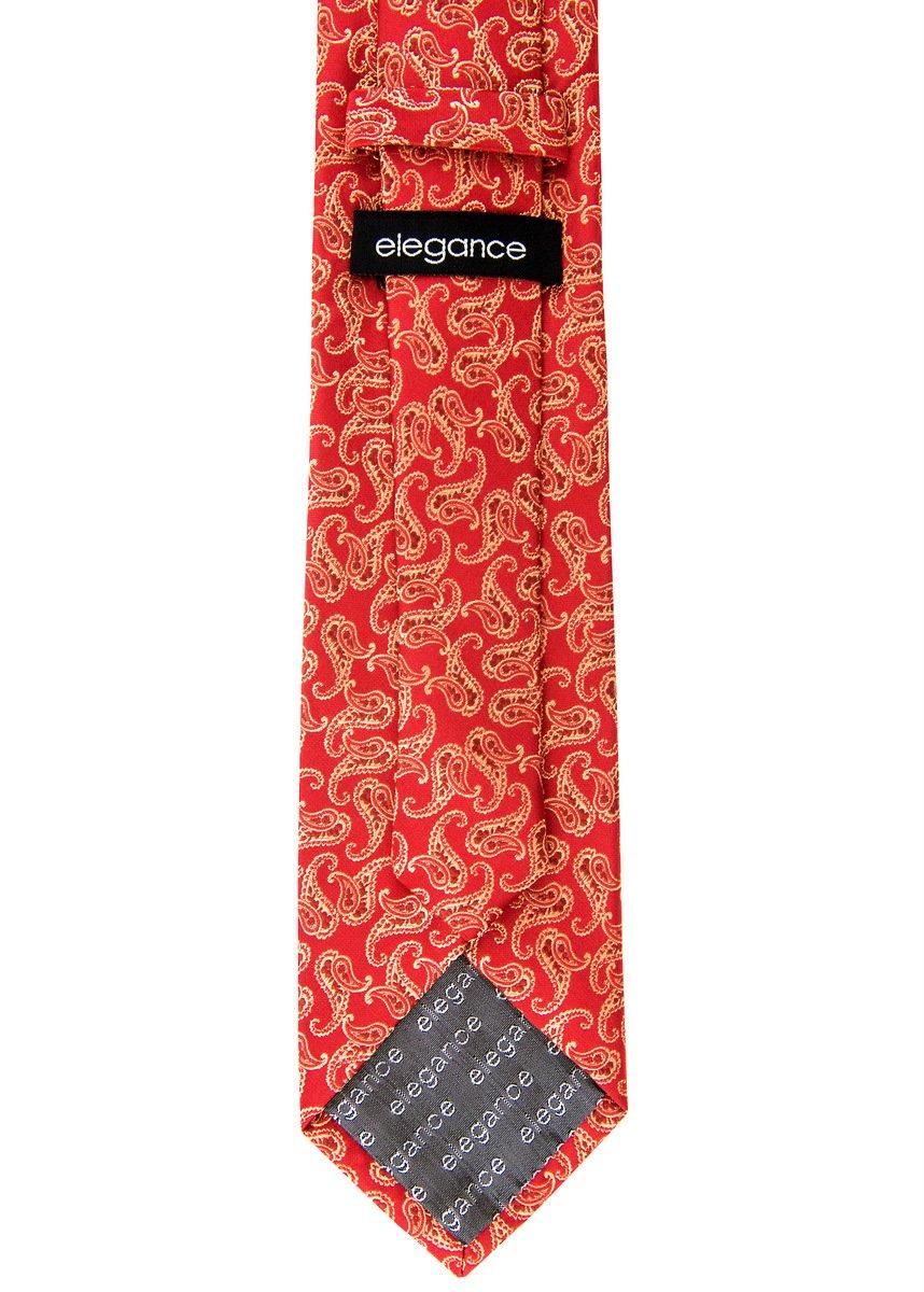Clásico Paisley patrón Woven regalo Hombres Rojo S Tie amarillo Necktie  W Pocket Square   Gemelos Set de regalo Rojo y amarillo 5c4f010 9de492f84d28