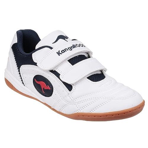 098c7e681d KangaROOS Childrens Boys Backyard KR10704 Sneakers (3.5 US) (White Navy