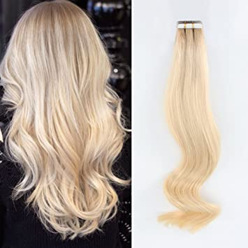 AmazingBeauty Semi-permanent Root Tape Extensions - Invisible Pre Taped  Double sided