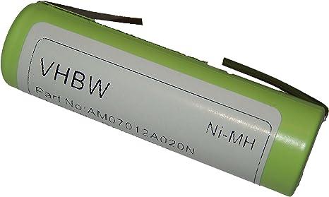 vhbw Ni-MH Batería 2000mAh (1.2V) para afeitadora Remington ...