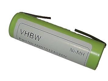 vhbw Ni-MH Batería 2000mAh (1.2V) para afeitadora Remington, Ermila,