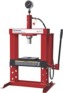 Strongway Benchtop 10-Ton Hydraulic Shop Press with Gauge