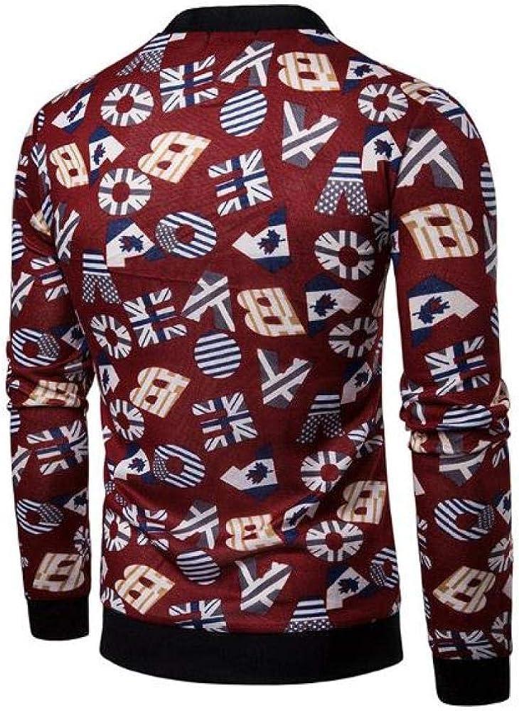 Loeay Suéter para Hombre Cardigan Botón con Cuello en v Bandera Moda Ocio Estampado Otoño e Invierno Manga Larga Mantener cálido Suéter Chaqueta de Punto: Amazon.es: Ropa y accesorios