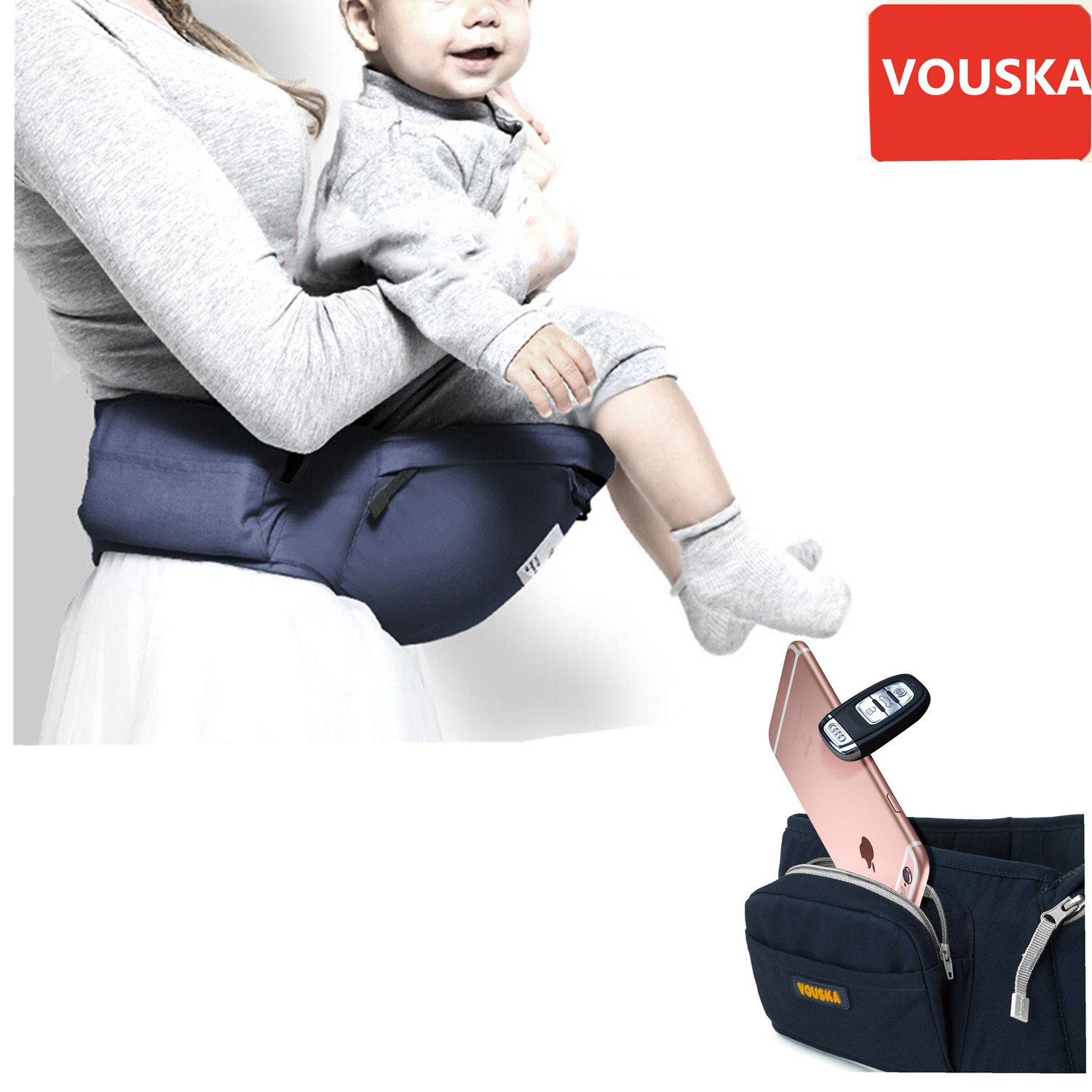 Amazon Baby Carrier Baby Carriers Front and Back The PLETE All Seasons 360 Ergonomic Baby & Child Carrier with Baby Hip Seat 8 in 1