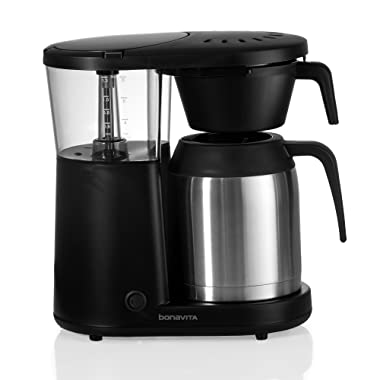 Bonavita 8-Cup One-Touch Coffee Maker Featuring Hanging Filter Basket and Thermal Carafe, BV1901PS