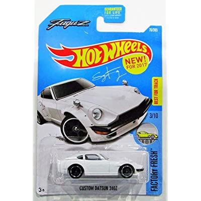 Hot Wheels 2020 Factor Fresh Fugu Z Custom Datsun 240Z 76/365, White: Toys & Games