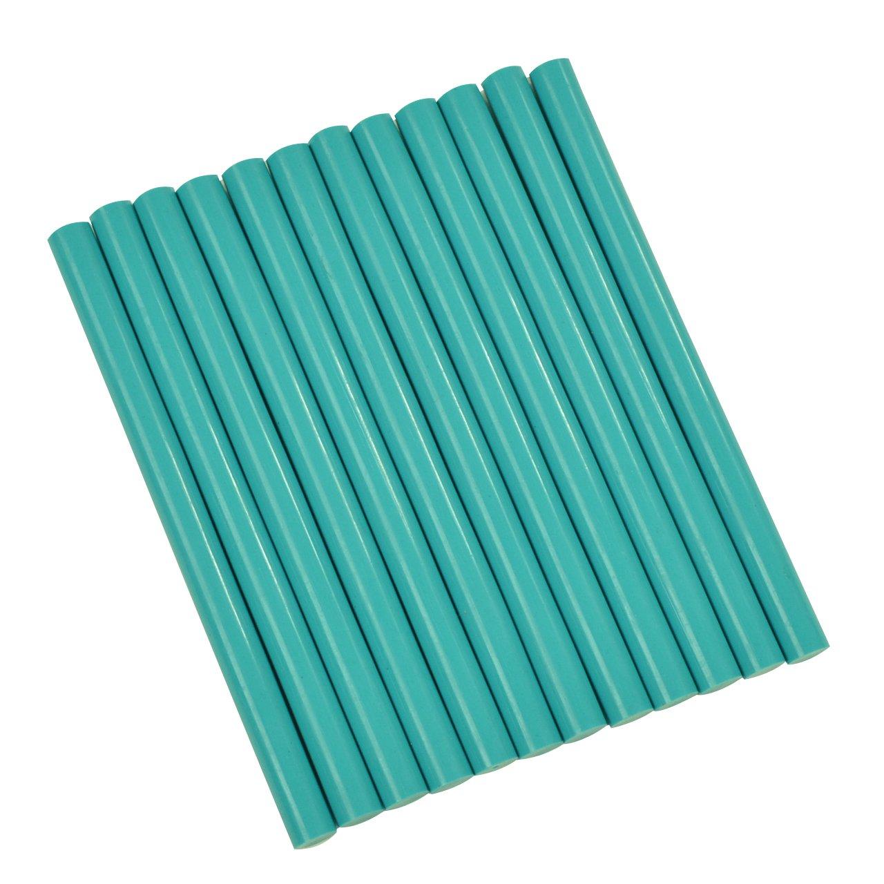 GlueSticksDirect Teal Colored Glue Sticks Mini X 4 12 Sticks