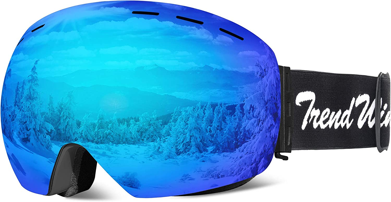 TRENDWIND SKI Goggles – OTG Snowboard Goggles with UV400 Protection,Anti-Fog,Anti-Glare Dual Layer Spherical Lens for Women Men Outdoor Sports Snow Goggles