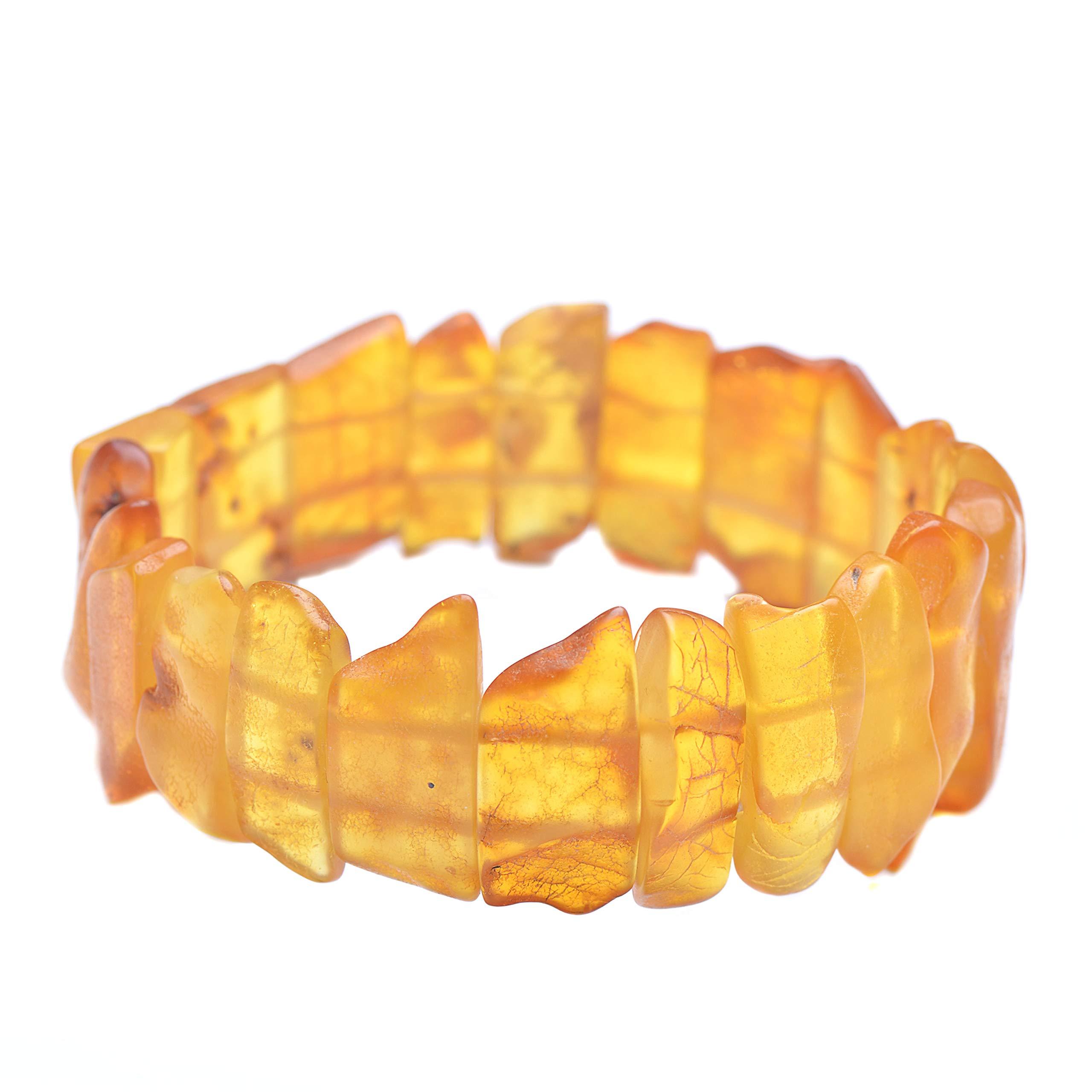 Amber Bracelet - Unique Amber Bracelet - Handmade Amber Jewelry - Baltic Amber Bracelet by Genuine Amber (Image #1)