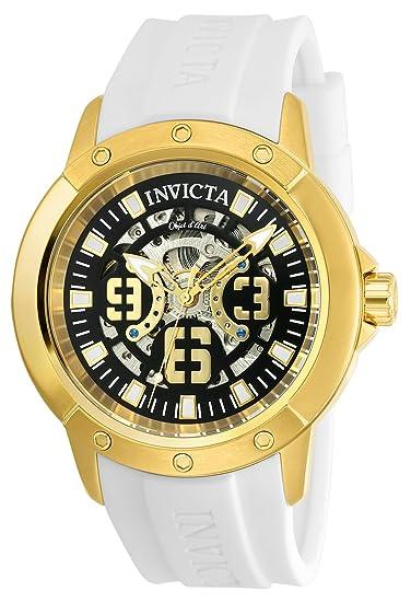 Invicta 22630 Objet D Art Reloj para Hombre acero inoxidable Automático Esfera negro: Amazon.es: Relojes