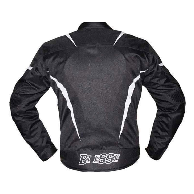 Protezioni CE BIESSE Giacca Moto Scooter Uomo Tessuto nero//bianco, S fodera termica SPORT Impermeabile Regolabile