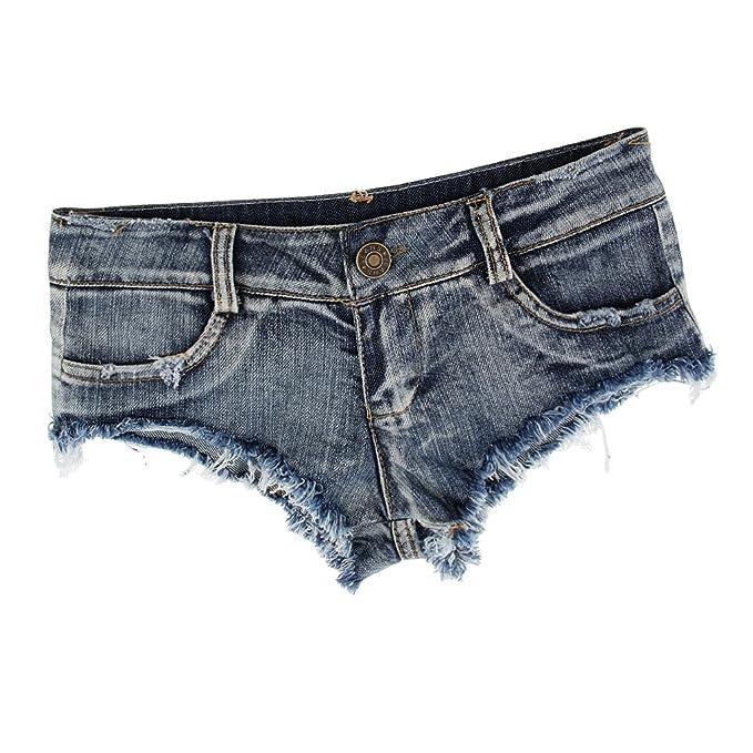 Baoblaze Mini Pantalones Cortos De Mezclilla Cómodo Vestido