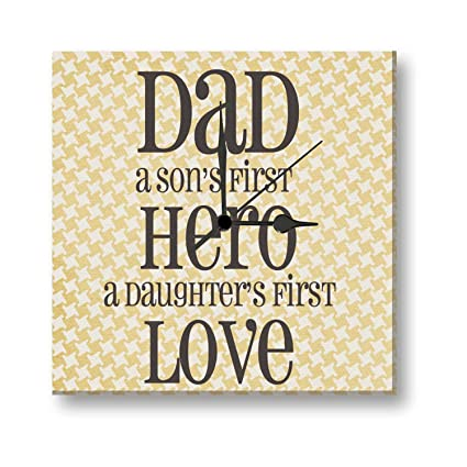 Buy Birthday Gifts For Father Giftsmate Hero Dad Canvas Wall Clock
