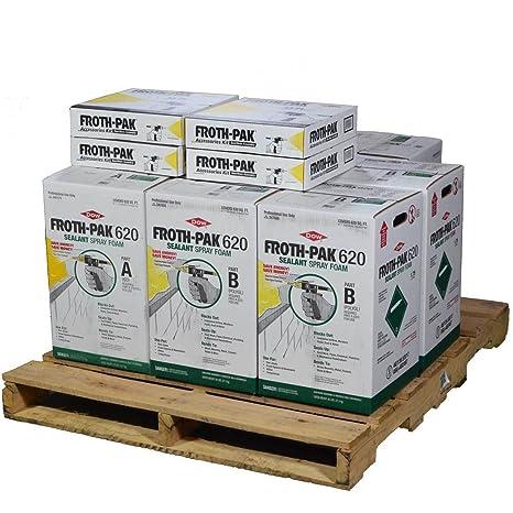 Dow espuma Pak 620, 4 completa spray sellador de célula cerrada Kits, cubre 2480 SQ FT: Amazon.es: Bricolaje y herramientas