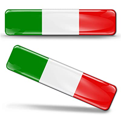 2 x 3D Domed Silicone Stickers Decals Italy National Italian Flag Car Motorcycle Helmet F 13: Arts, Crafts & Sewing