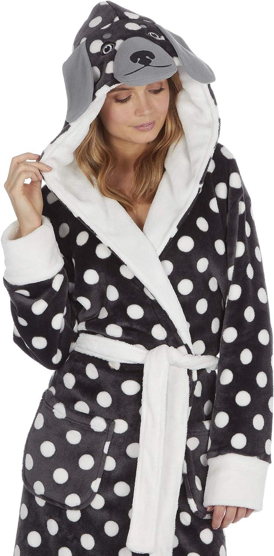 morbida e avvolgente elegante Kate Morgan Vestaglia con cappuccio da donna