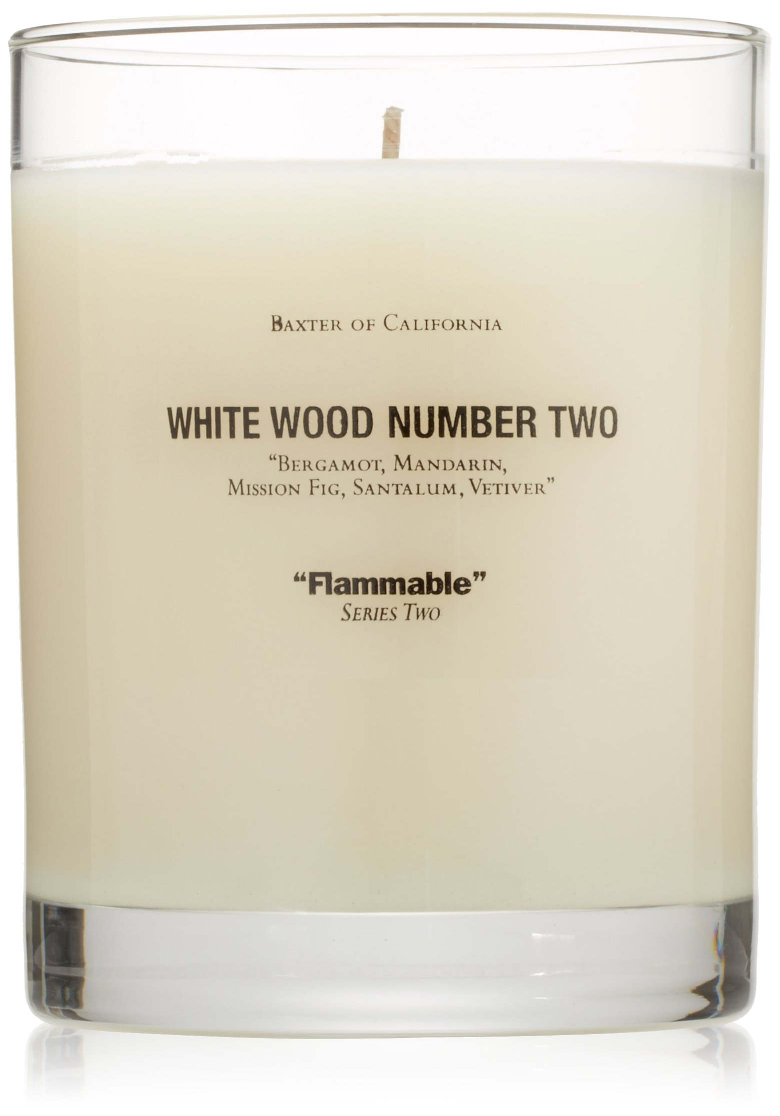 Baxter of California Scented Candle, White Wood Number Two by Baxter of California