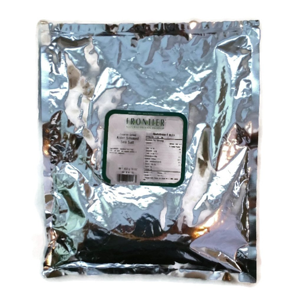 Frontier Natural Products Alder Smoked Sea Salt Coarse -- 16 oz