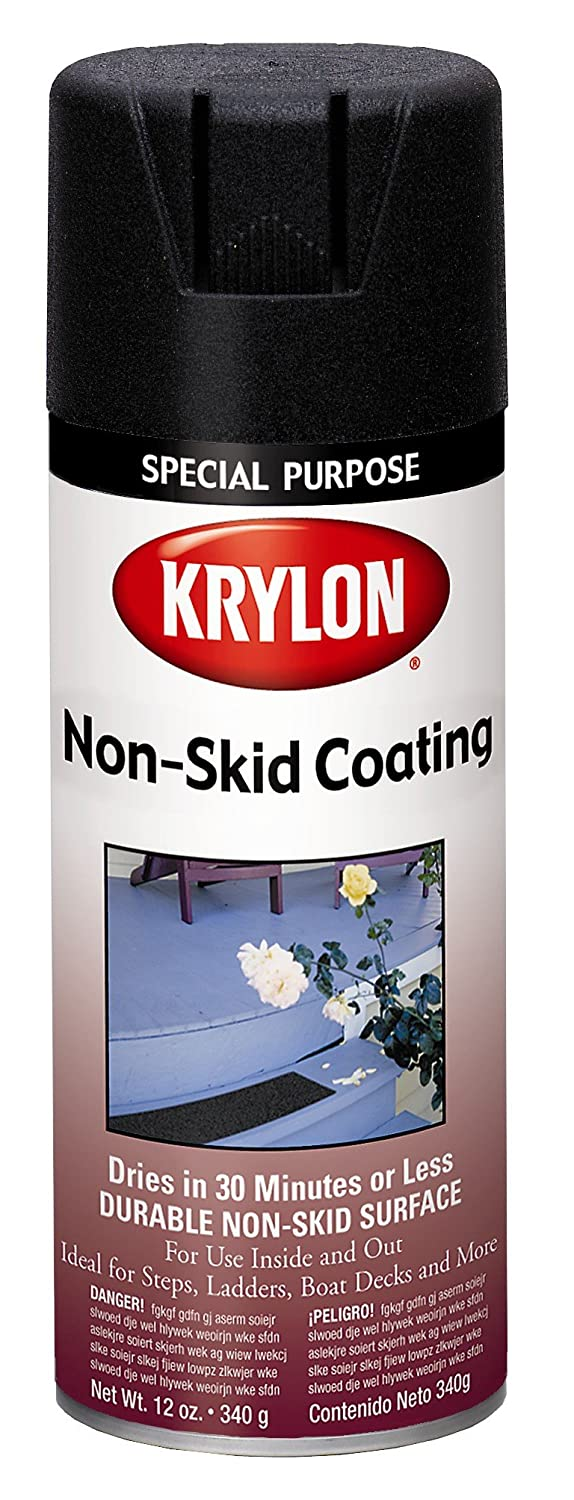 Non slip paint for stairs - Amazon Com Krylon 3400 Clear Non Skid Coating 11 Oz Aerosol Automotive