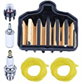 Adefol Air Filter Kit for Poulan PP5020AV 575296301 Chainsaw Replacement Parts with Fuel Filter, Primer Bulb, Spark Plug…