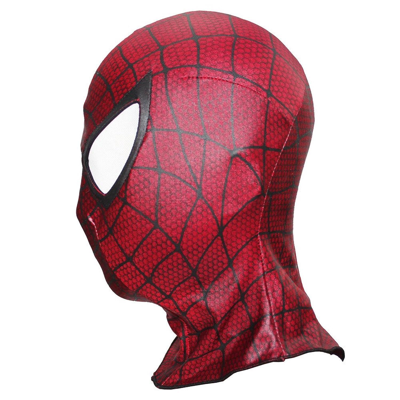 Amazon cllmkl spiderman face mask spandex spider man for amazon cllmkl spiderman face mask spandex spider man for halloween party mask spandex lycra mask red clothing jeuxipadfo Images
