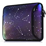 Sancyacc Laptop Carrying Bag Compatible 15-15.6 Inch MacBook Pro, MacBook Air, Notebook, Water-Resistant Neoprene Briefcase Handbag Sleeve Case Cover for Trolly Case, Constellation