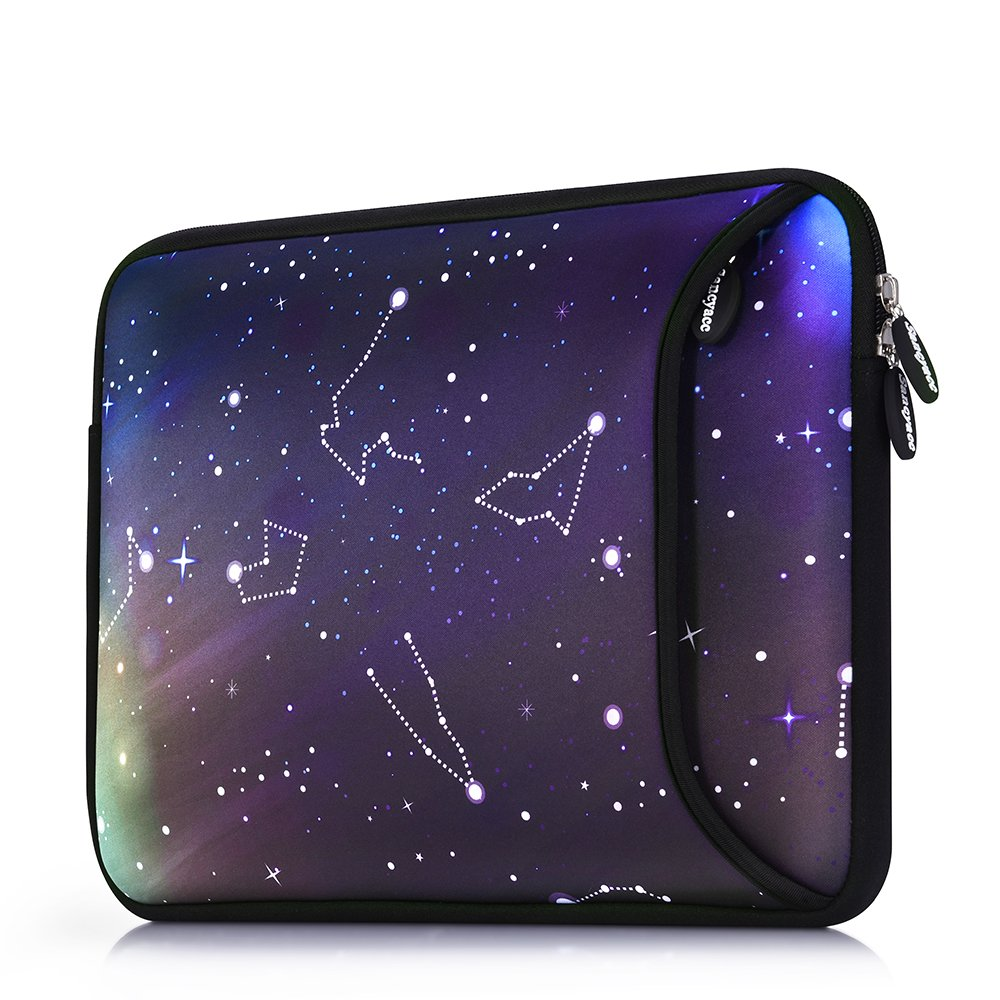 Sancyacc Laptop Sleeve, Water-Resistant Sleeve Bag Cover 13-13.3 Inch, Neoprene Laptop Bag Case, Full Protective Carrying Notebook Pocket for MacBook Air/Pro (Star)
