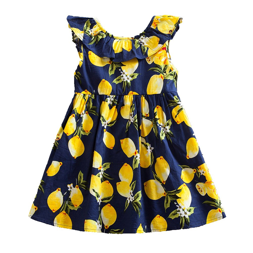 JUXINSU Summer Kids Princess Sleeveless Dresses for Girls Beach Dress Cotton Children Clothes SH616 1-6 Years