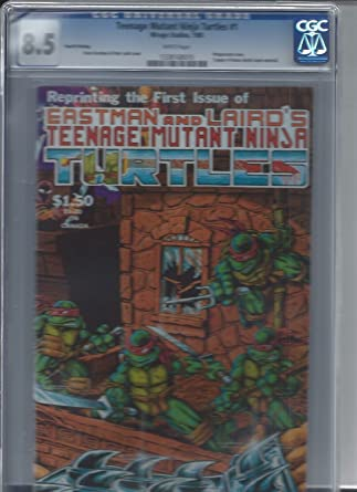 Amazon.com: TEENAGE MUTANT NINJA TURTLES #1 CGC 8.5 4th ...
