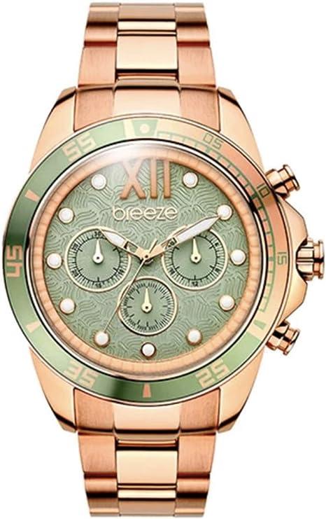 Breeze Womens Chronograph Watch Sassy-Tribe IP Rose Gold