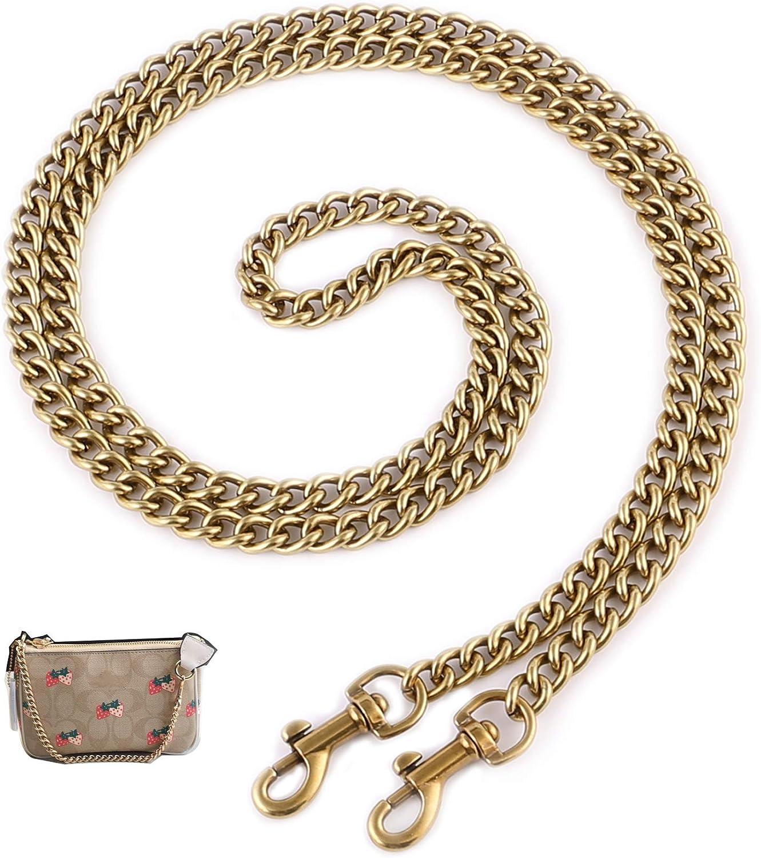 High Quality Bag chain 110cm Purse Chain 7mm wide Link Chain Crossbody Bag Chain Strap Shoulder bag chain