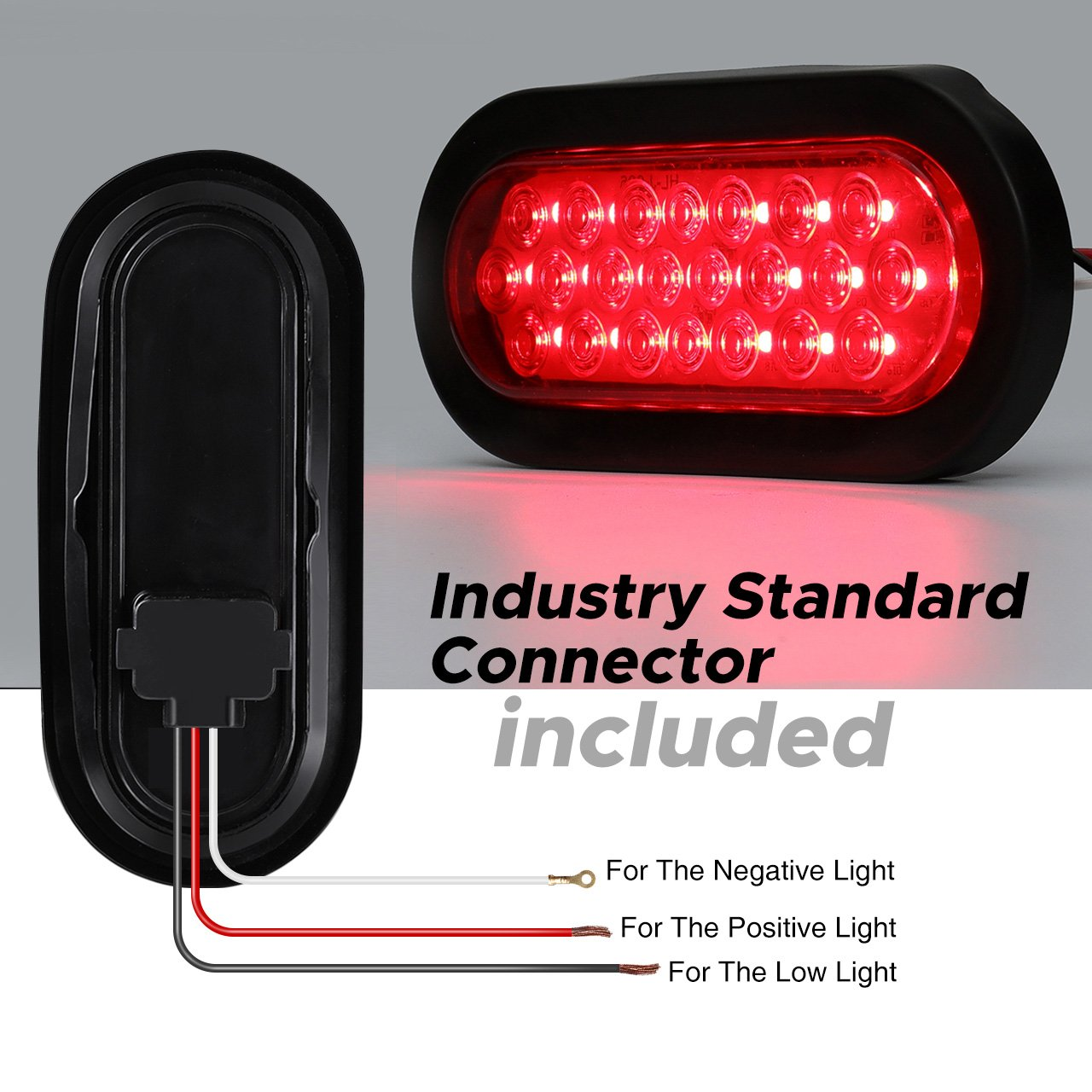 Audew 2pcs 6 Inch Oval 22 Led Trailer Tail Lights Red Also Along With Wiring Brakes Marker For Truckboattrailerbusip65 Waterproofdc 12v Automotive