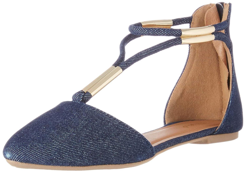 Qupid Women's Pika-46 Pointed Toe Flat