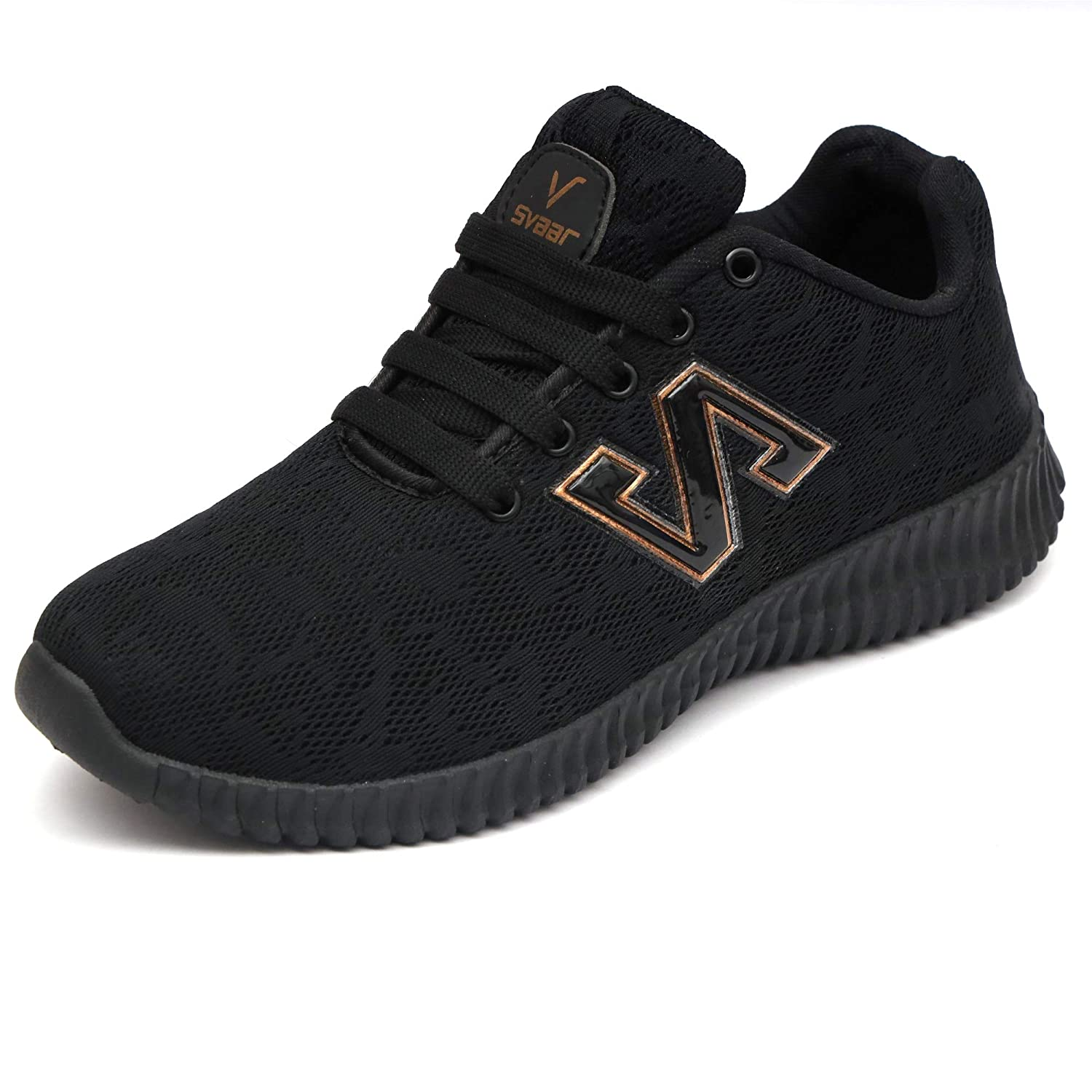 afba2f864a356 SVAAR Black Sports Shoes/Walking Shoes/Running Shoes for Men