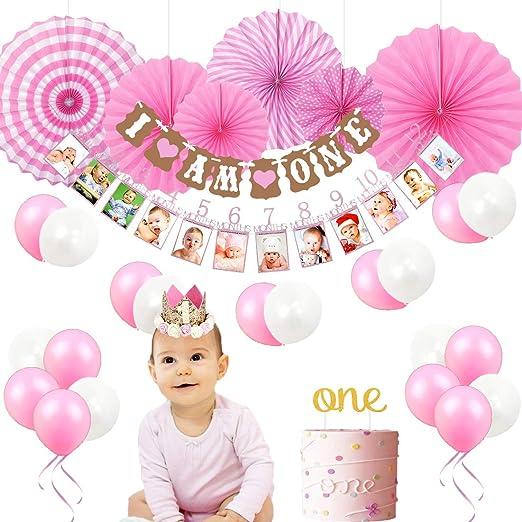 Decoraciones del 1er cumpleaños para niñas, artículos de ...