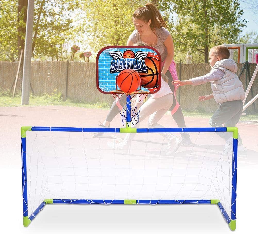 Yosoo Health Gear Basketball Backboard Football Kit Kids Indoor Outdoor Mini Basketball Soccer System Backboard Football Guard Balls Kit Kids