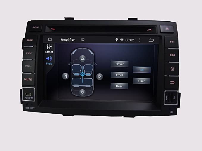 Android 6.0 Octa Core 1024 * 600 Coche Reproductor de DVD GPS navegación Multimedia estéreo Coche para Kia Sorento 2011 Radio Control de Volante con 3 G ...