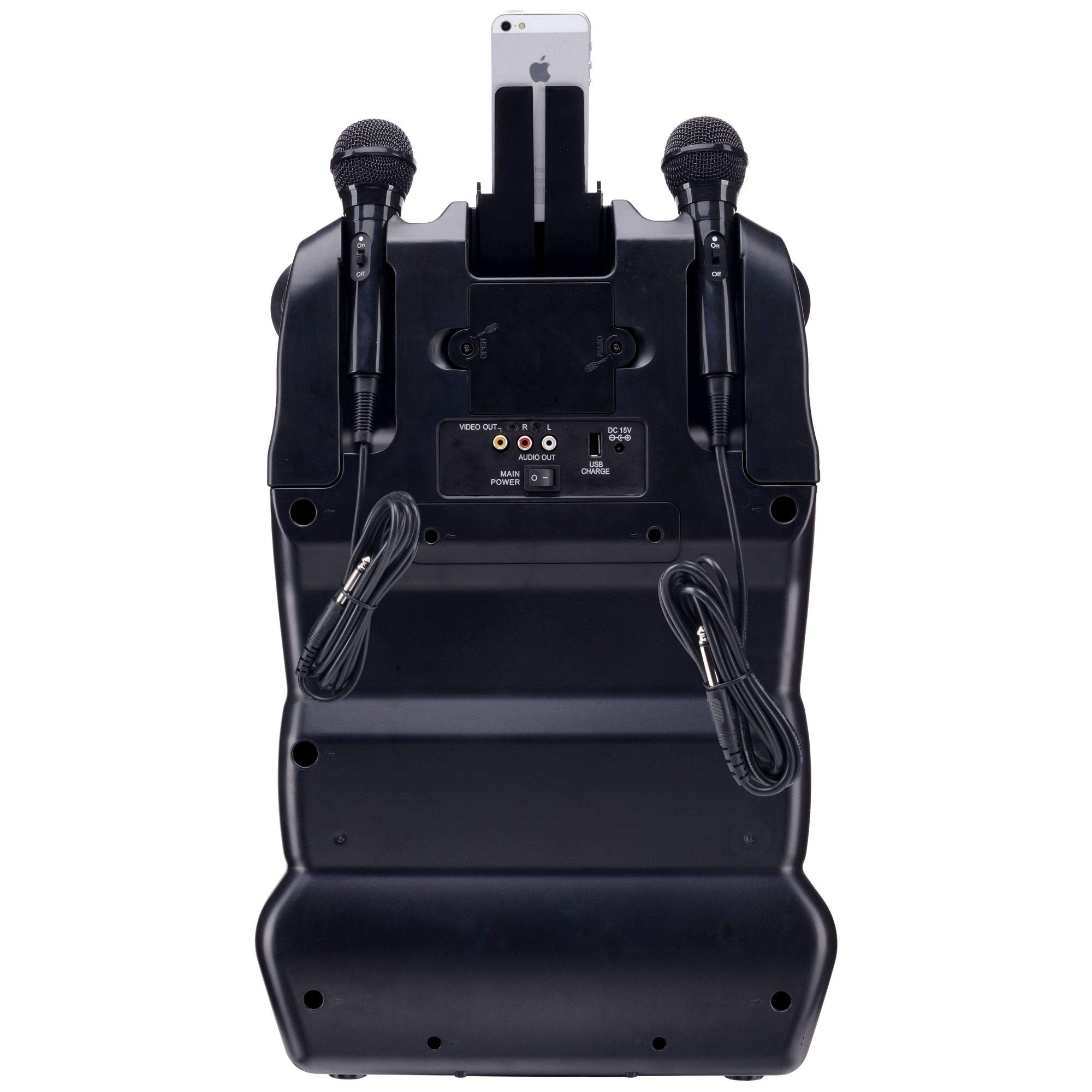 Karaoke USA GF920 Outdoor Portable Professional Bluetooth Karaoke Machine and PA System with Rechargeable Lithium Battery by Karaoke USA (Image #2)