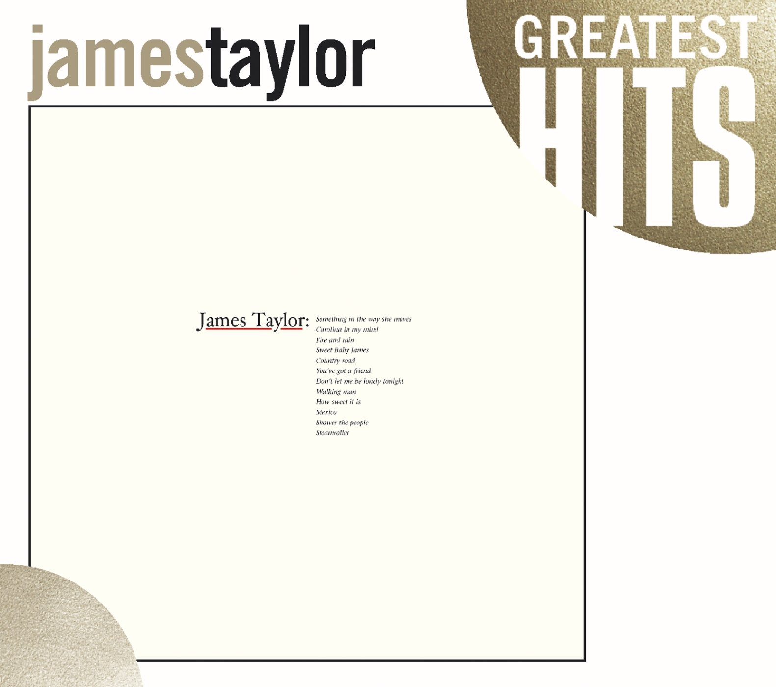 CD : James Taylor - Greatest Hits (Repackaged)