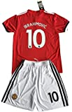 Ibrahimovic #10 Manchester United 2017-18 Kids/Youths Home Soccer Jersey & Shorts