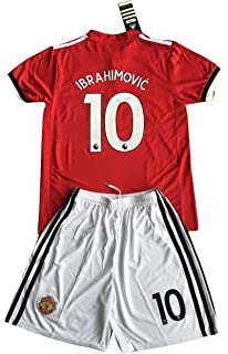 separation shoes 470c6 db99c best price manchester united 10 ibrahimovic red home long ...