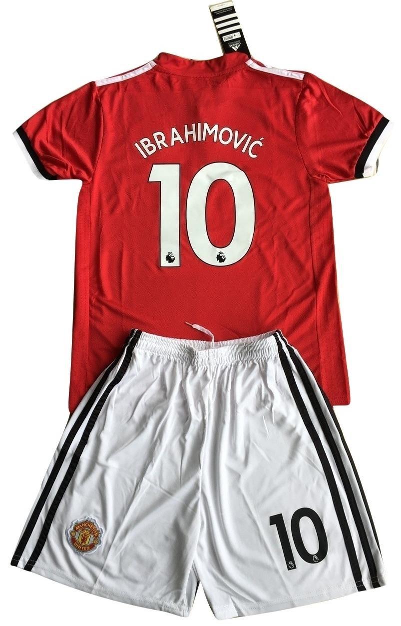 Ibrahimovic # 10 MANCHESTER UNITED 2017 – 18 Kids / Youthsホームサッカージャージー&ショーツ B0768TTG1T 9-10 Years Old