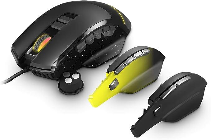 Energy Sistem Gaming Mouse ESG M2 Flash Rat/ón 6400 dpi, USB, Luces LED RGB, 8 Botones customizables
