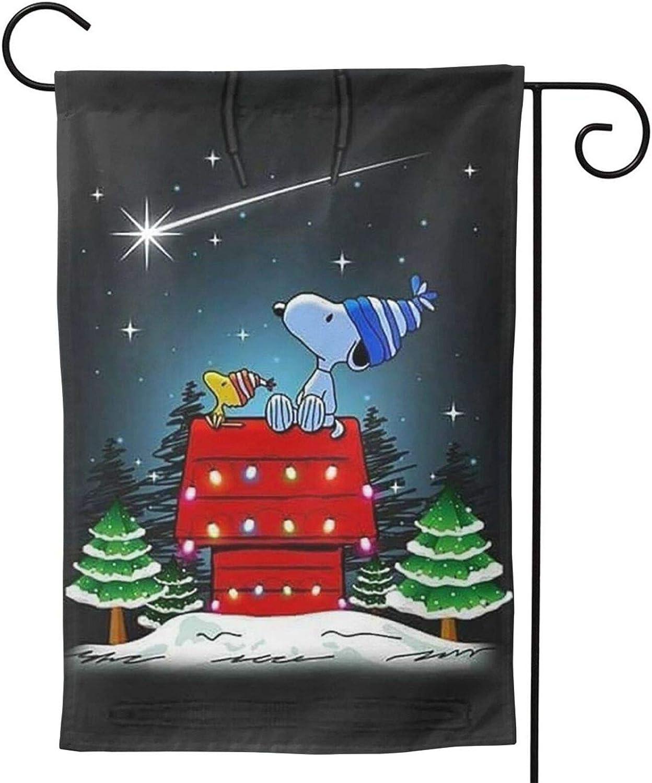 Stockdale Christmas Snoopy 2-Sided Garden Flag Decorative Seasonal Flag for Home