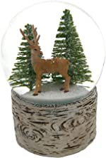 The San Francisco Music Box Company Deer in The Wood Snow
