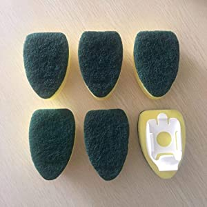 6Pcs Heavy Duty Dish Wand Sponge Refill Replacement Heads for Kitchen