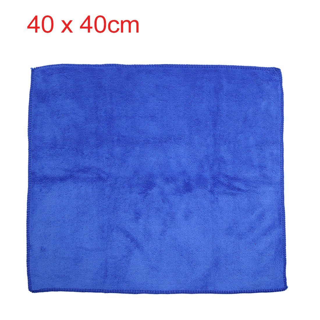 Amazon.com: eDealMax 2pcs 40 x 40 cm de limpieza de microfibra de coches 400gsm secar las toallas de Tela Lavada Azul Rojo: Automotive