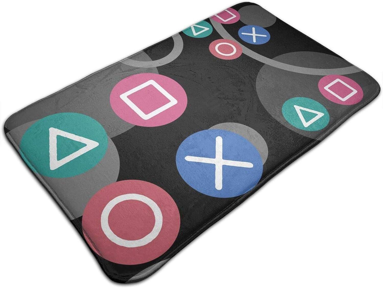 Area Rugs Pad Floor Mat Controller Ear Plugs Carpet Indoor Blanket for Dining Room Kids Nursery Playroom Sofa Living Room