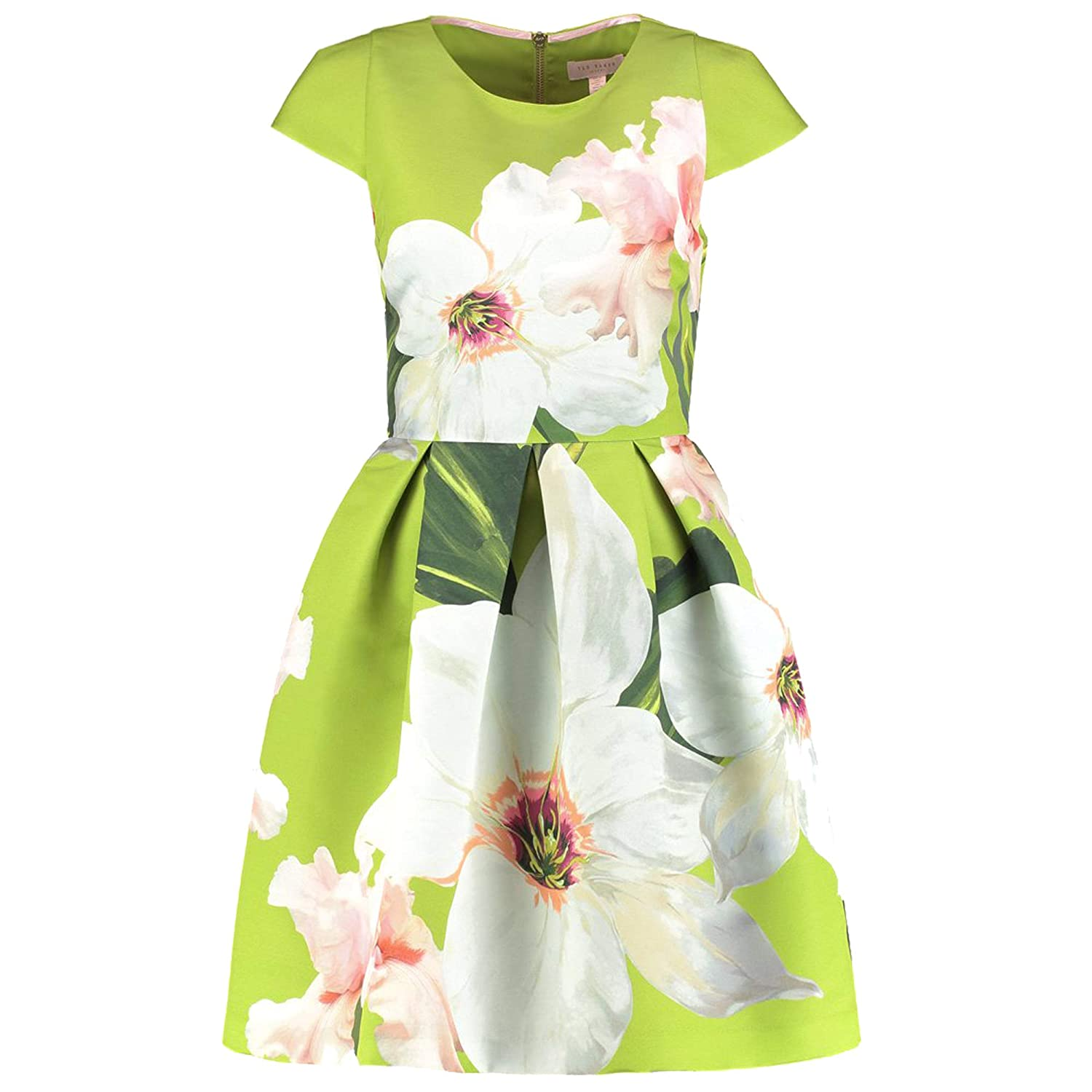 687da9a202e5 Amazon.com  Ted Baker Light Green Lynetta Chatsworth Bloom Skater Dress  (3)  Clothing